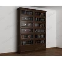 книжный шкаф библиотека цвета венге