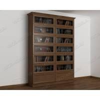 двухдверный книжный шкаф цвета шимо темный