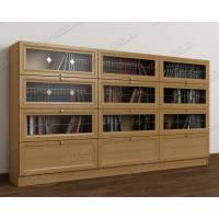 трехдверный шкаф для книг цвета бук