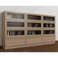 шкаф для книг библиотека цвета шимо светлый