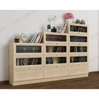 книжный шкаф со стеклянными дверцами горка с витражом