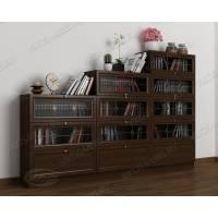 книжный шкаф со стеклянными дверцами горка цвета венге