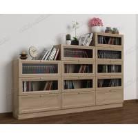 книжный шкаф со стеклянными дверцами горка шириной 120-135 см