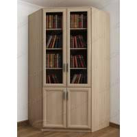 шкаф угловой для книг цвета шимо светлый