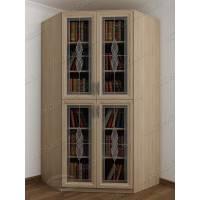 угловой шкаф для книг цвета шимо светлый