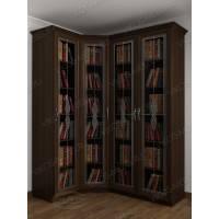 витражный 4-створчатый шкаф угловой