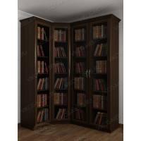 4-створчатый шкаф угловой цвета венге