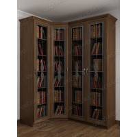 4-створчатый шкаф угловой для книг