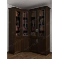 4-дверный угловой шкаф с витражом
