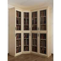 четырехстворчатый шкаф угловой для книг