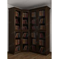 шкаф угловой для книг цвета венге