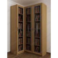 3-дверный угловой шкаф для книг