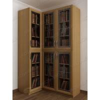 трехдверный угловой шкаф для книг