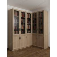витражный угловой шкаф для книг