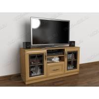 телевизионная тумба с выдвижными ящиками цвета бук