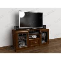 телевизионная тумба с выдвижными ящиками цвета яблоня