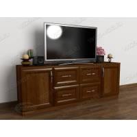 тумба под телевизор с ящиками цвета яблоня