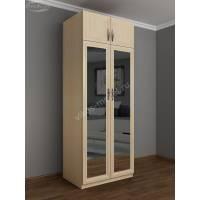 платяной шкаф с антресолью с зеркальной дверью
