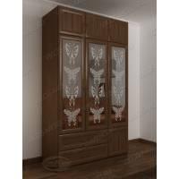шкаф для одежды и белья с ящиками цвета шимо темный