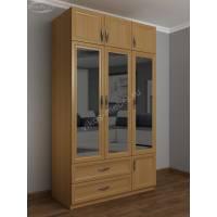 шкаф для одежды и белья в спальню цвета бук