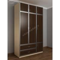шкаф для одежды и белья в спальню цвета беленый дуб - венге