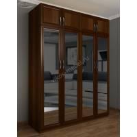 распашной шкаф для спальни с зеркалом