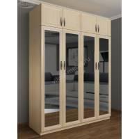 распашной шкаф для спальни с антресолью