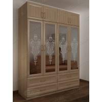 шкаф для спальни цвета шимо светлый