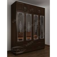 шкаф для спальни цвета венге