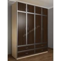 шкаф для спальни цвета беленый дуб - венге