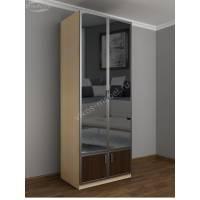 шкаф с распашными дверцами в коридор со шкафчиком