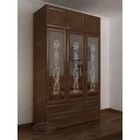 шкаф с распашными дверями для спальни цвета шимо темный