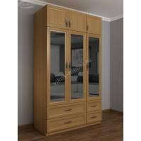 шкаф с распашными дверями для спальни с зеркальной дверью