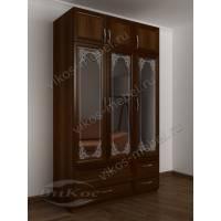 зеркальный шкаф с распашными дверями для спальни