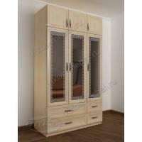 шкаф с распашными дверями с ящиками для мелочей цвета молочный беленый дуб