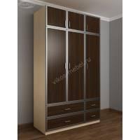 шкаф с распашными дверями с ящиками для мелочей цвета беленый дуб - венге
