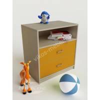 тумба для игрушек без колес желтого цвета