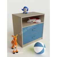 мальчуковая тумба для игрушек голубого цвета