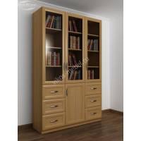 шкаф для книг шириной 120-135 см цвета бук