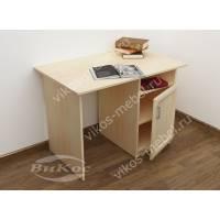 письменный стол со шкафчиком цвета молочный беленый дуб