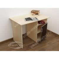 малогабаритный письменный стол цвета беленый дуб - венге