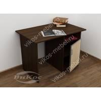 малогабаритный письменный стол цвета венге - молочный дуб