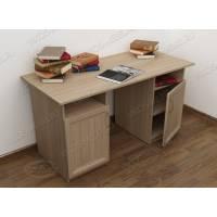 широкий офисный стол цвета шимо светлый