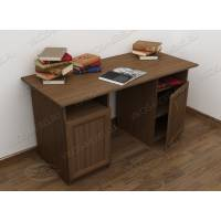 широкий офисный стол цвета шимо темный