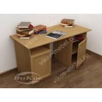 офисный стол со шкафчиком цвета бук