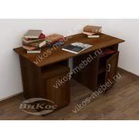 широкий офисный стол цвета яблоня