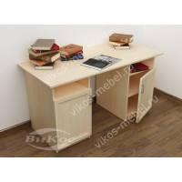 офисный стол со шкафчиком цвета молочный беленый дуб