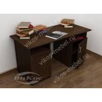 широкий офисный стол со шкафчиком