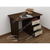 1-тумбовый стол в кабинет цвета венге - молочный дуб