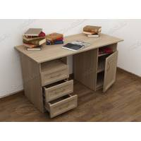 письменный стол со шкафчиком цвета шимо светлый